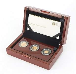 Elizabeth II 2016 sovereign three coin g...