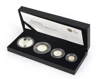 Elizabeth II 2011 Britannia four coin si...