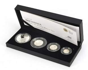 Elizabeth II 2012 Britannia four coin si...