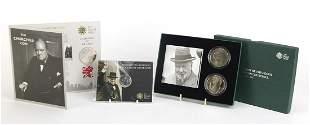 Winston Churchill commemorative coins co...