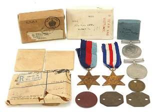 Four British military World War II medal...
