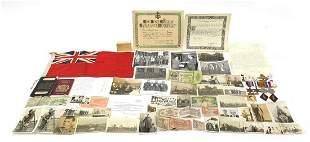 British military World War II four medal...