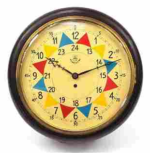 RAF design fusee wall clock with painted...