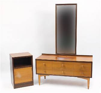 Kandya, mirror backed dressing table and nightstand,