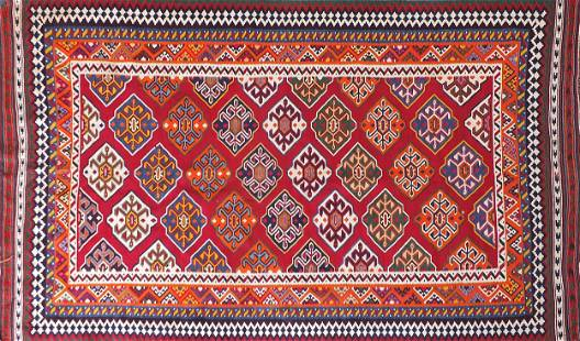 Large Turkish Kilim rug, 300cm x 157cm