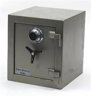 Cast iron home security safe, 41cm H x 35.5cm W x 37cm