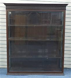 Chinese Chippendale design mahogany display cabinet