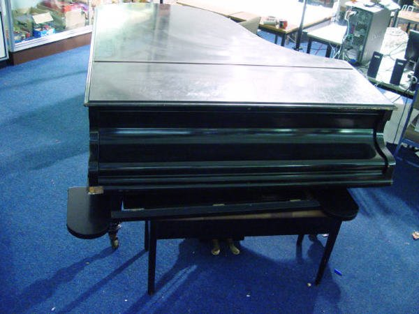 68: Ebonised C Bechstein baby grand piano with matching - 2
