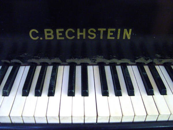 68: Ebonised C Bechstein baby grand piano with matching - 4
