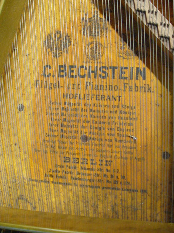 68: Ebonised C Bechstein baby grand piano with matching - 6