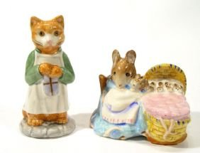 Two Hand Painted Beswick Beatrix Potter Figures, H