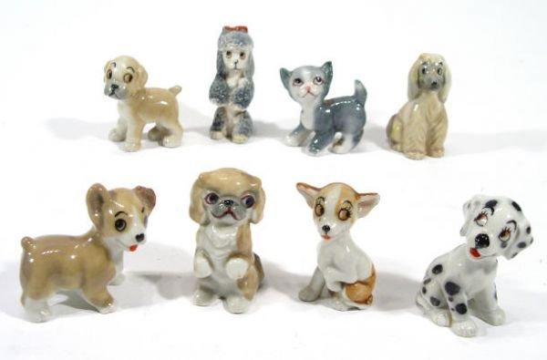 499: Eight hand painted Wade TV Pet figures - Bengo, Ch