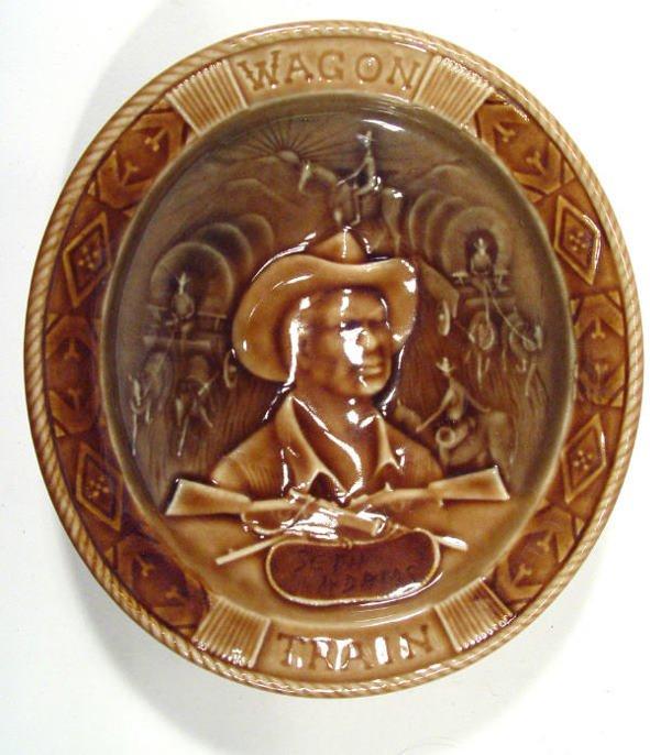503: Oval Wade porcelain dish, depicting Seth Williams