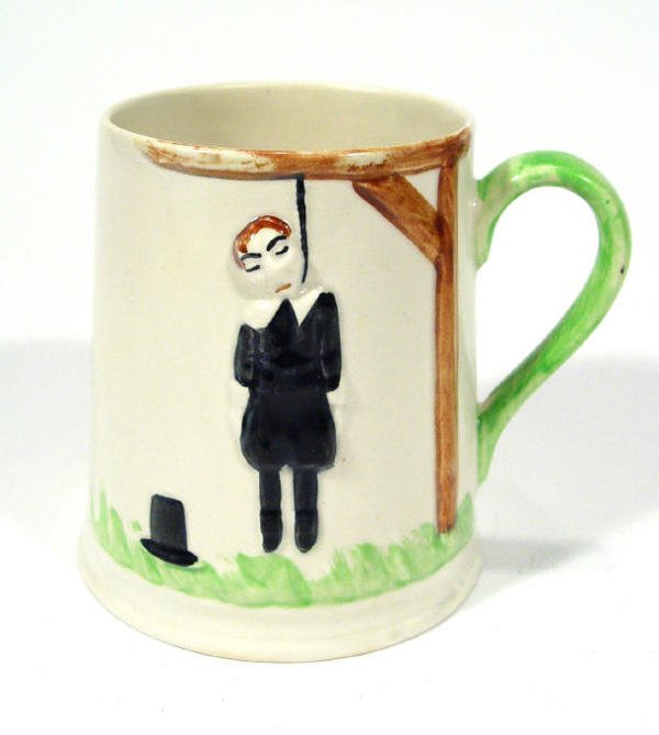 505: Hand painted Carltonware tankard, relief moulded w
