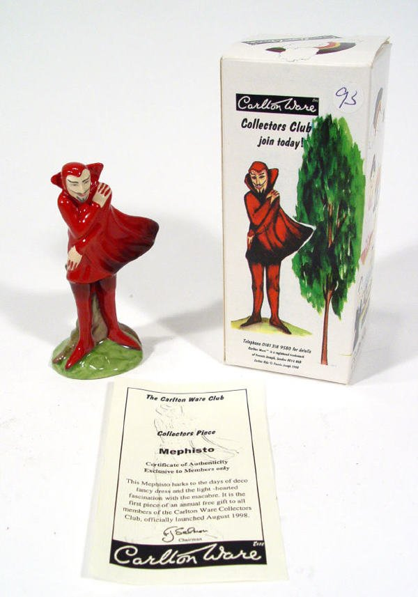 506: Boxed and hand painted Carltonware Mephisto collec