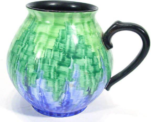 507: Art Deco Carltonware single handled vase, hand pai