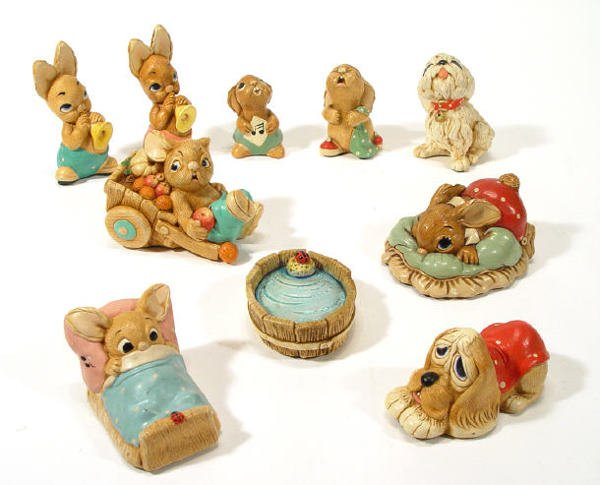 511: Collection of ten Pendelfin figures, including 'Wa