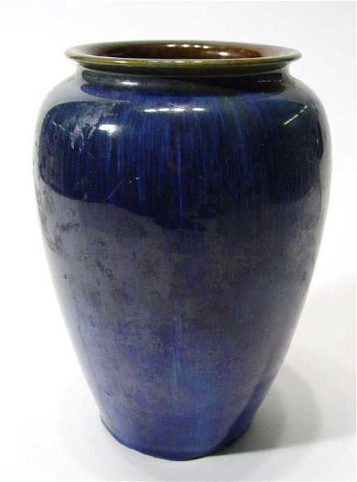 512 Bourne Denby Dansbyware Electric Blue Glazed Vase