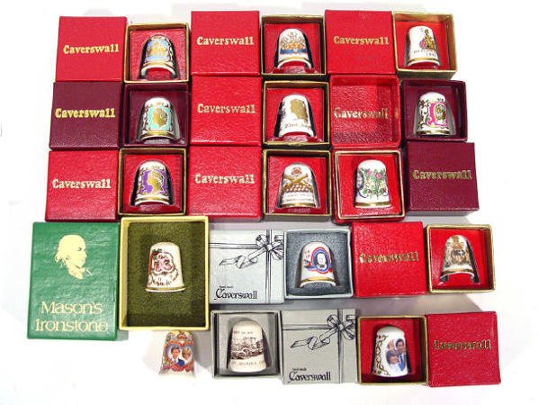 540: Collection of boxed Caverswall bone china commemor