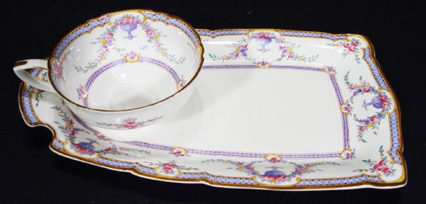 544: Royal Worcester bone china cup and sandwich plate,