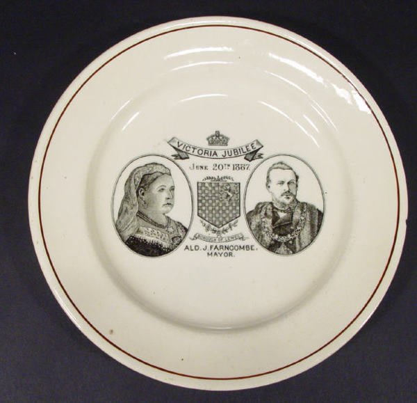 545: Queen Victoria Diamond Jubilee plate produced for
