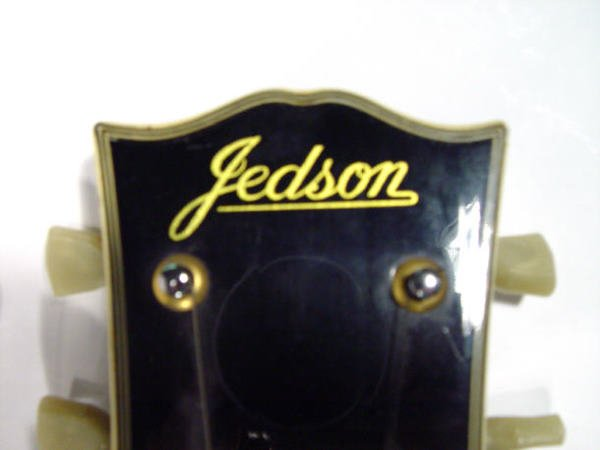 585: Jedson electric guitar with mother-of-pearl inlaid - 2