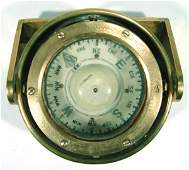 649 Brass cased ships compass by Kelvin  Hughes Limi