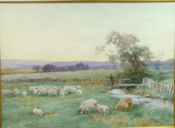 868: David Bates - Two watercolours of rural scenes 'In
