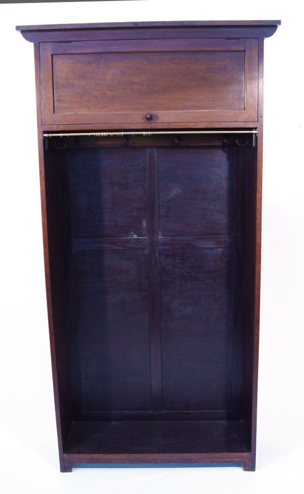 19: Libertys 1920s mahogany hall stand with cupboard do