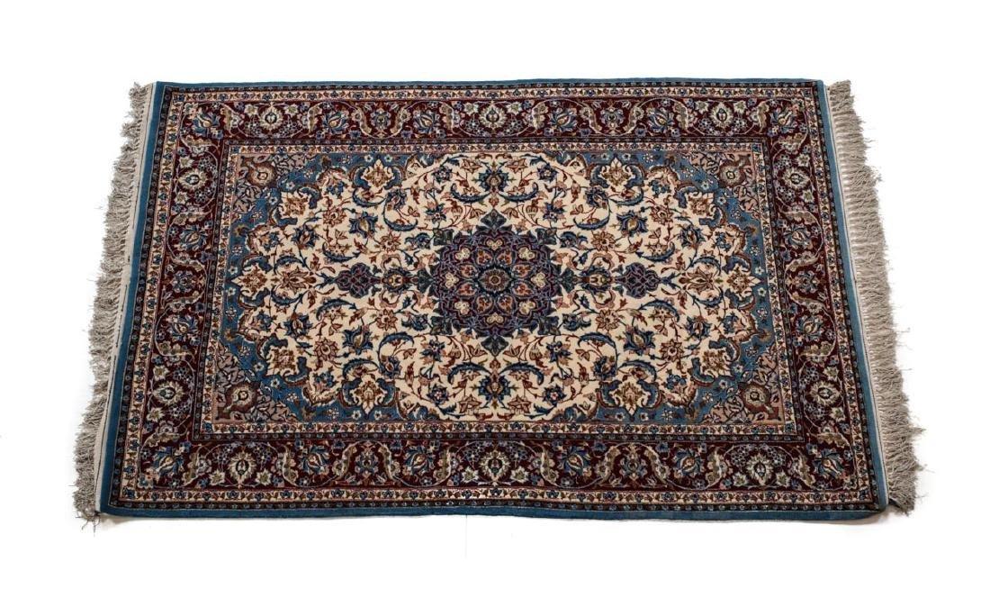 Isfahan Wool & Silk Rug c1950
