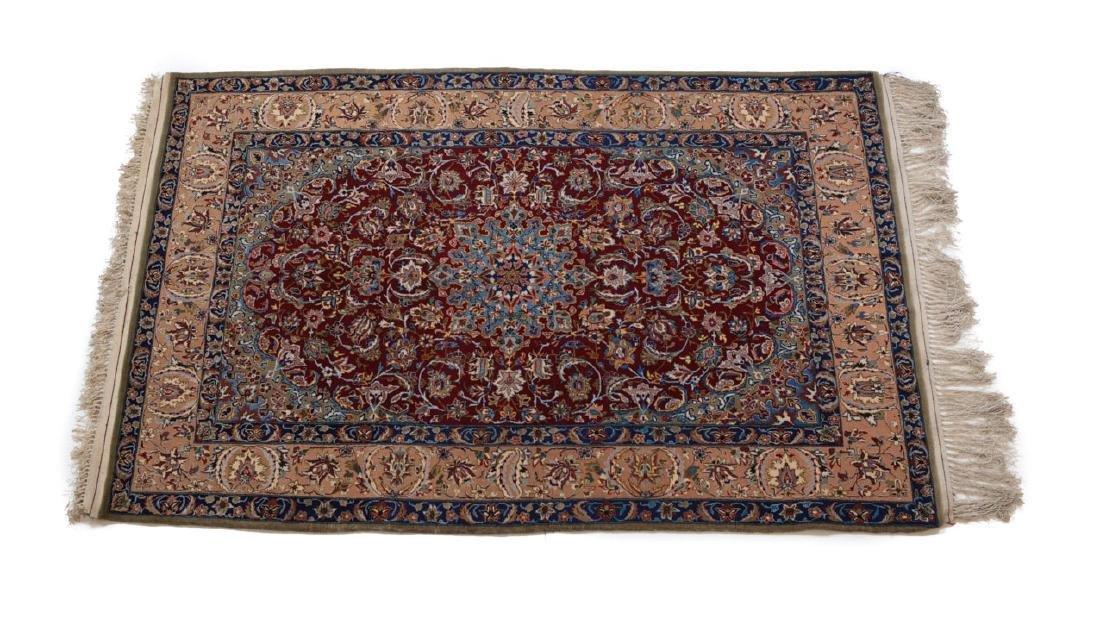 Ishfahan Rug Wool & Silk  c1950