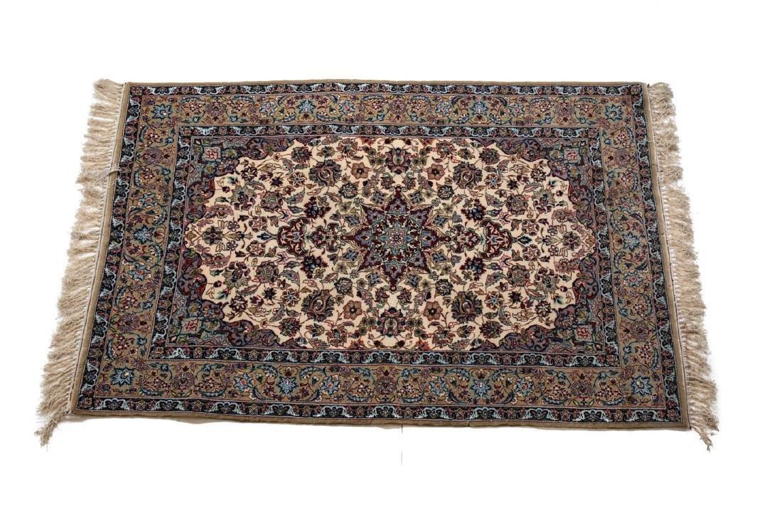 Isfhan Wool & Silk Rug , c1950