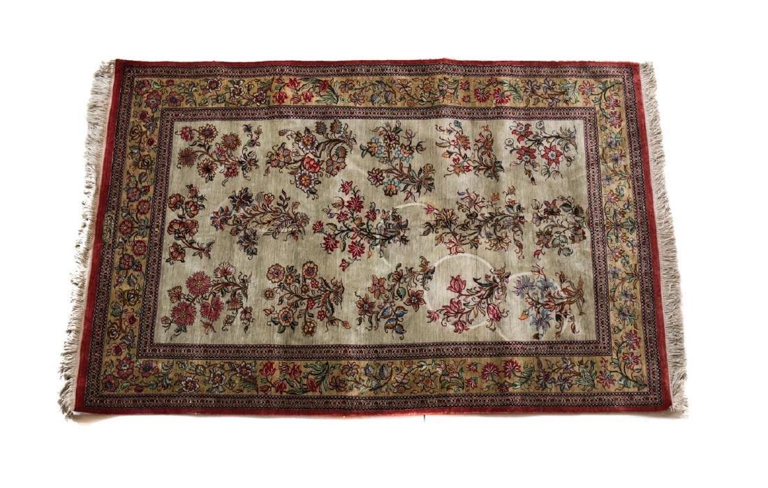 Silk Qum Rug  c1950