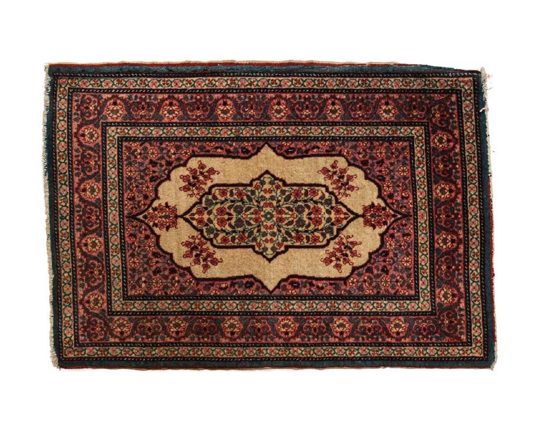 Antique Tabriz Wool Rug 19th Century