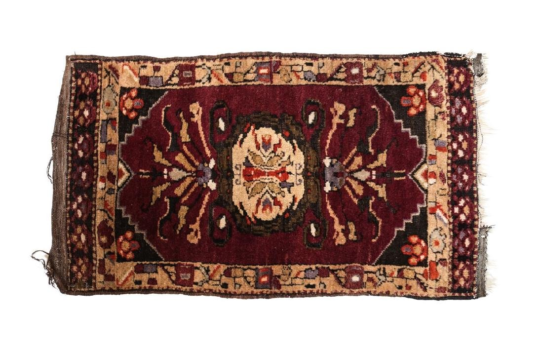 Kurdish Wool Pile Rug c1920