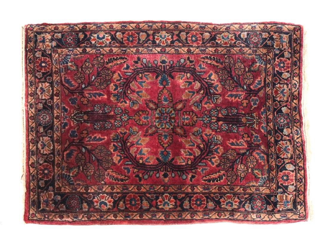 Sarouk Wool  Mat  c1900