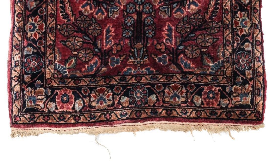Sarouk Wool  Mat  c1900 - 2