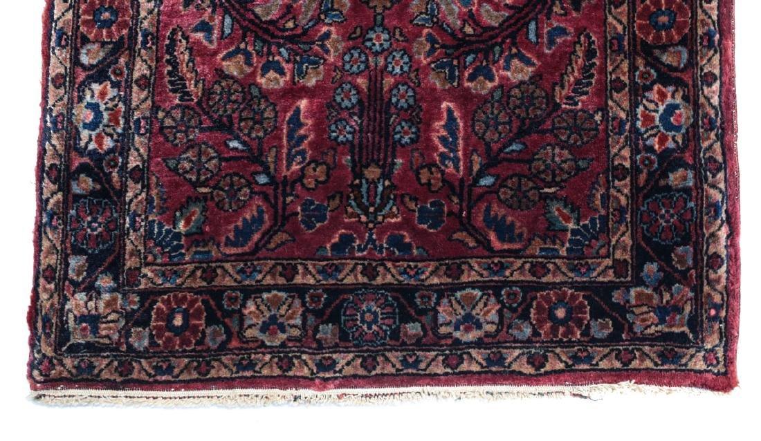 Sarouk Wool  Mat  c1900 - 3