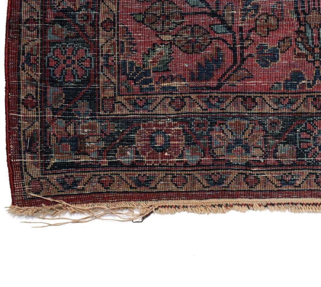 Sarouk Wool  Mat  c1900 - 6