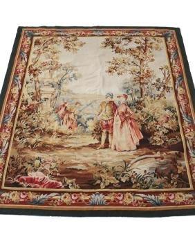 Antique Aubesan Tapestry c1900