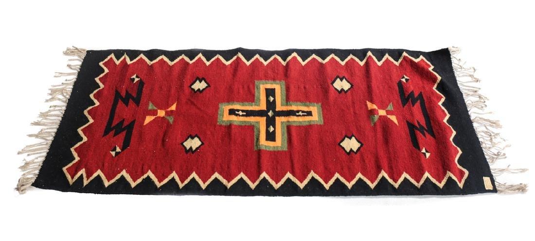Kilim Wool Cross Rug, c1980