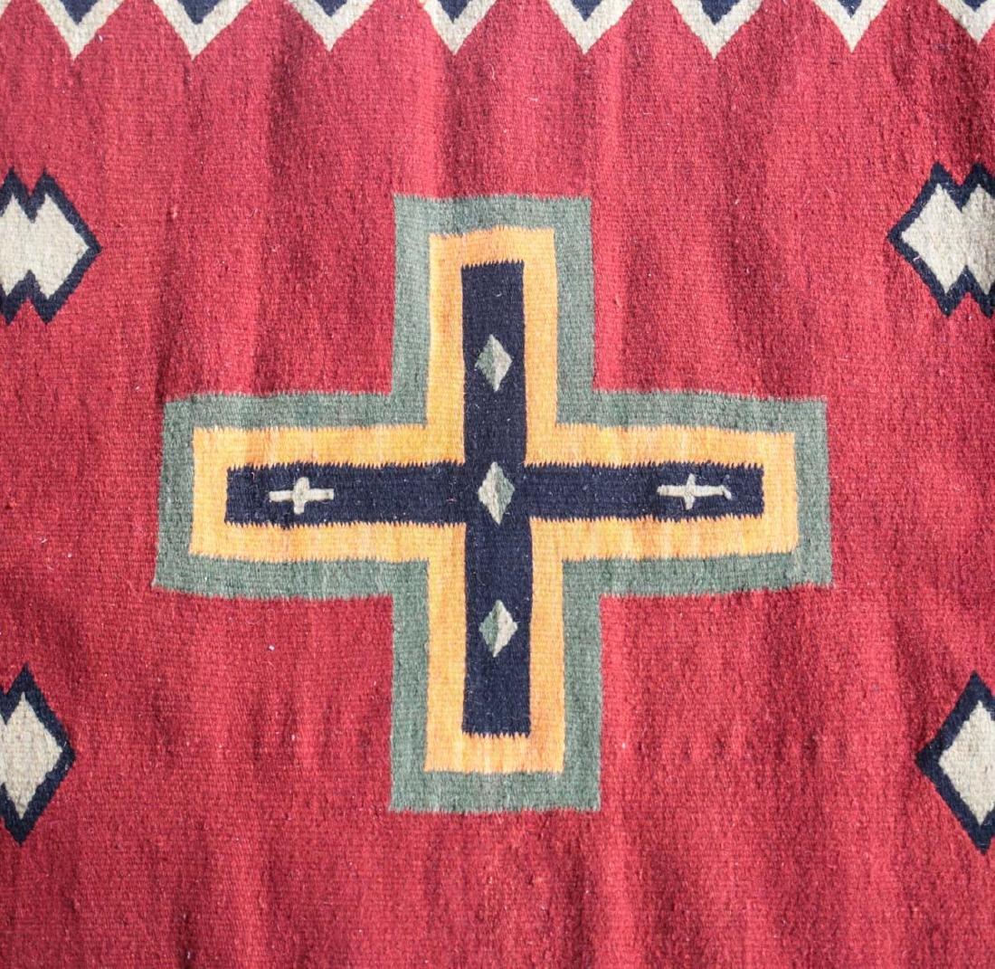 Kilim Wool Cross Rug, c1980 - 2