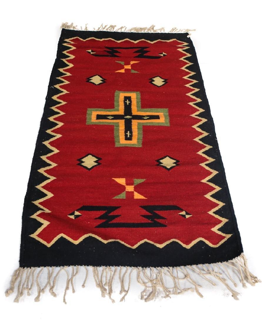 Kilim Wool Cross Rug, c1980 - 4