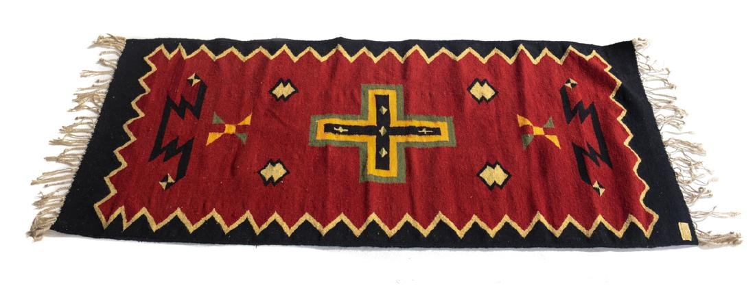Kilim Wool Cross Rug, c1980 - 5