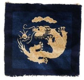19th Century Chinese Oriental Rug Dragon Design