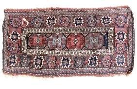 19th Century Flat Weave Soumak Rug Geometric