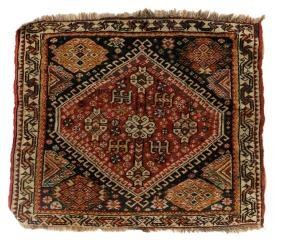 19th Century Persian Qashqai Rug w/ Geometric Patterns
