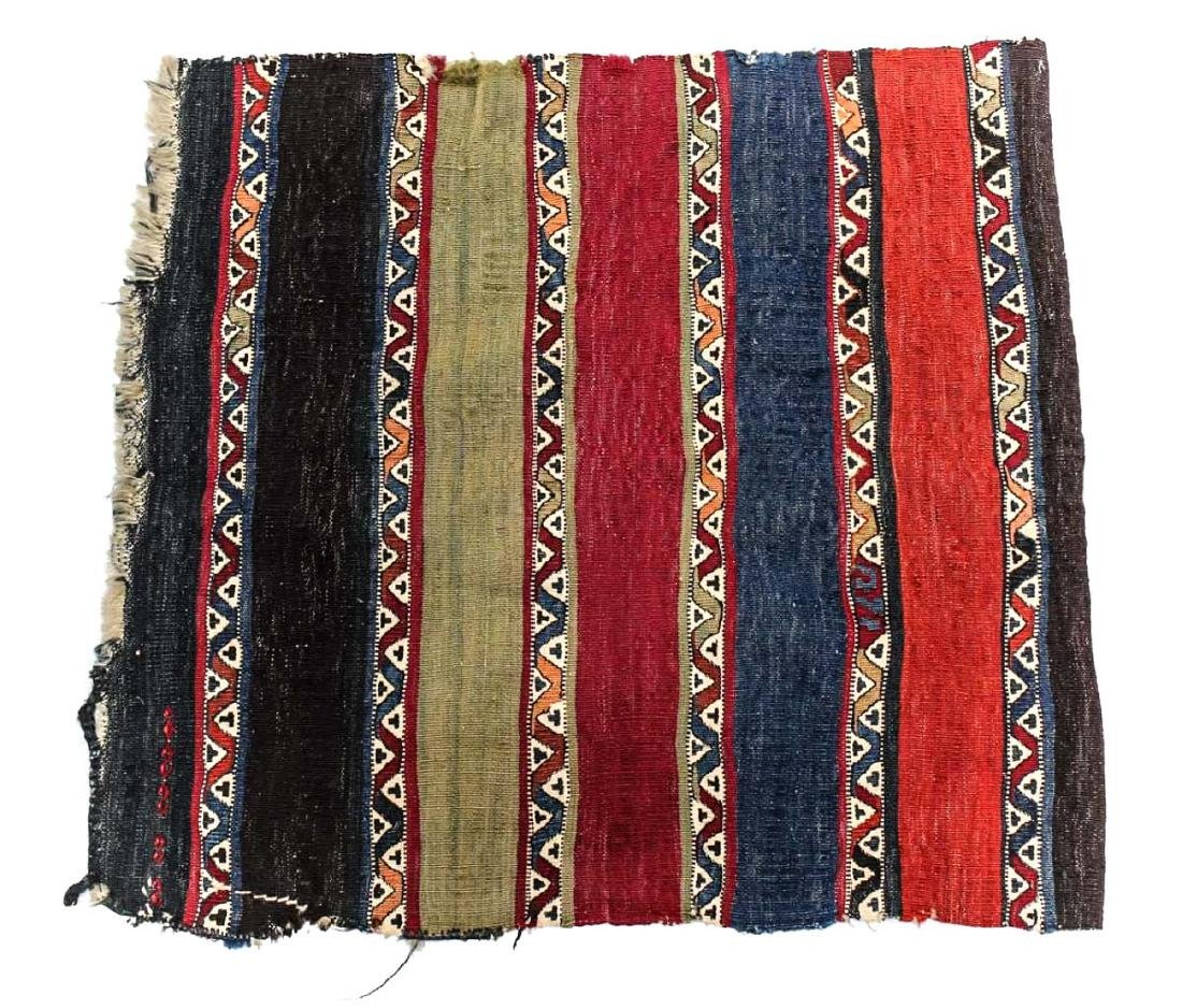 c1900 Handmade Kilim Striped Rug