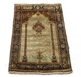c1960 Persian Silk Prayer Rug