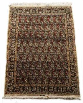 c1920 Signed Hereke Silk Prayer Rug